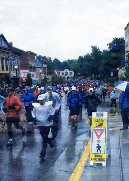 Yucky, as in wet and cold, would be a fair description of the weather at the start of Saturday's Pikes Peak Ascent foot race up our signature landform, and it got worse. Snow, hail and cold prompted race officials to turn runners back after no more than half had reached the A-Frame. Six hundred thirty runners reached the summit.