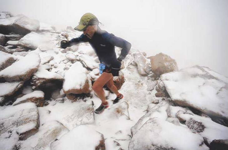 Simon Gutierrez, 42, of Alamosa was the first finisher at the Pikes Peak Ascent. He had also won the race previously.