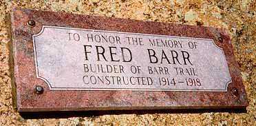 The Fred Barr Sign